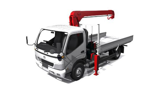Camioneta... Toyota-Toyoace-Crane-truck
